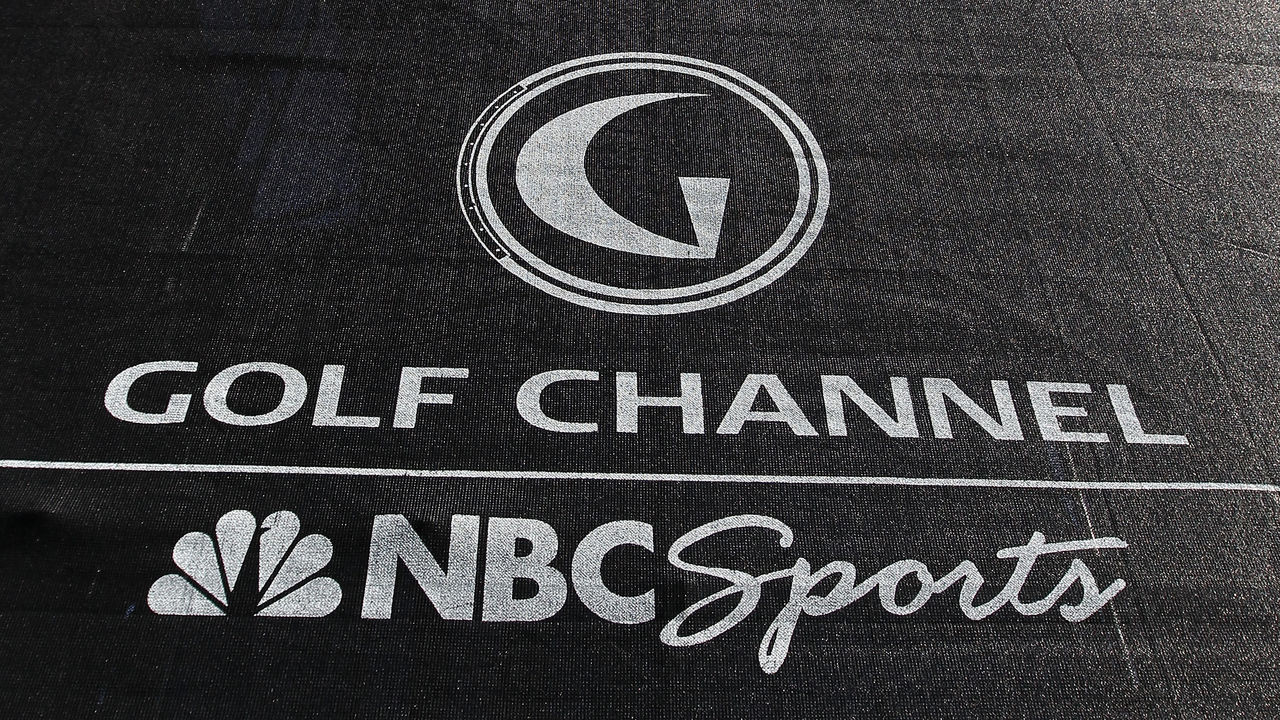 MARANA, AZ - FEBRUARY 24: A 'Golf Channel/NBC Sports' logo is seen on a television tower on the 18th hole during the second round of the Accenture Match Play Championship at the Ritz-Carlton Golf Club on February 24, 2011 in Marana, Arizona.