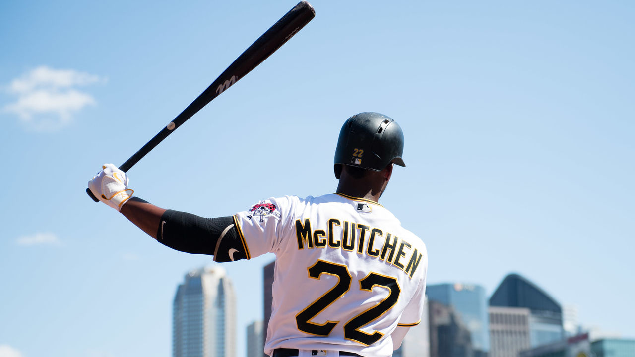 PITTSBURGH, PA - AUGUST 24: Andrew McCutchen #22 of the Pittsburgh Pirates waits on deck in the eighth inning during the game against the Houston Astros at PNC Park on August 24, 2016 in Pittsburgh, Pennsylvania.