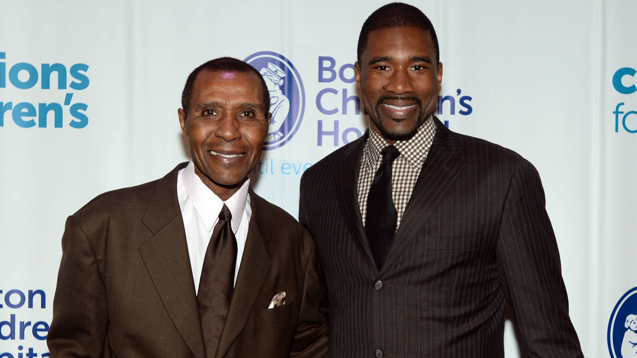 BOSTON, MA - DECEMBER 2: Former Celtics players Jo Jo White and Leon Powe attend Champions for Children's Gala at Seaport World Trade Center benefitting Boston Children's Hospital December 2, 2014 in Boston, Massachusetts.