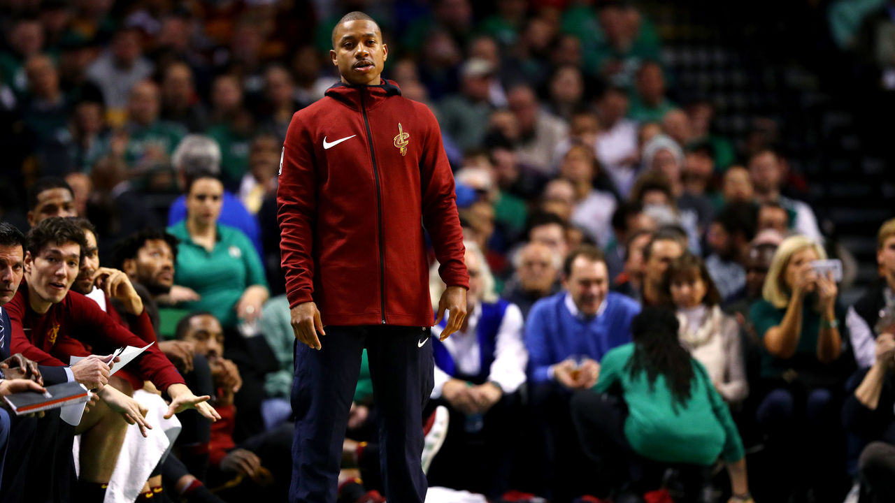 BOSTON, MA - JANUARY 3: Isaiah Thomas #3 of the Cleveland Cavaliers looks on from the bench during the second half against the Boston Celtics at TD Garden on January 3, 2018 in Boston, Massachusetts.