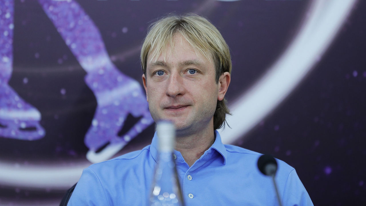 BEIJING, CHINA - JULY 14: Olympic Gold medalist in figure skating Evgeni Plushenko attends 'Amazing on Ice' press conference at Capital Indoor Stadium on July 14, 2016 in Beijing, China.