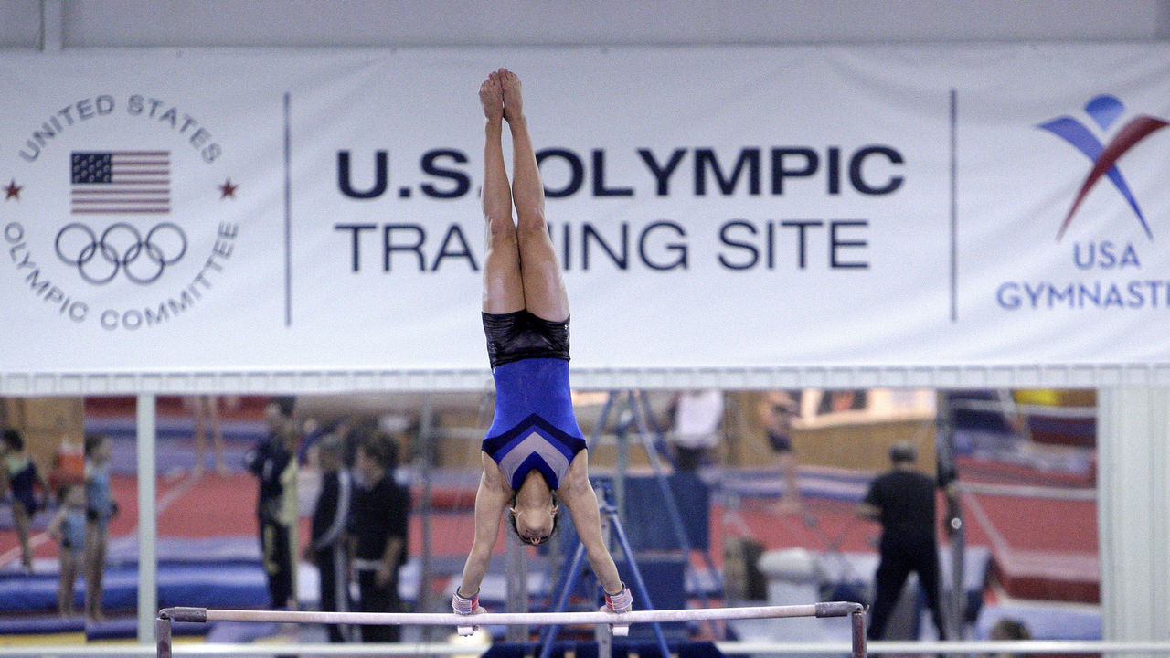HUNTSVILLE, TX - JANUARY 26: Gymnast workout with their personal coaches during a morning workout session at Karolyi Ranch, which was named an Official USOC Training Site and also Hilton announcing their partership with USOC on January 26, 2011 in Huntsville, Texas.