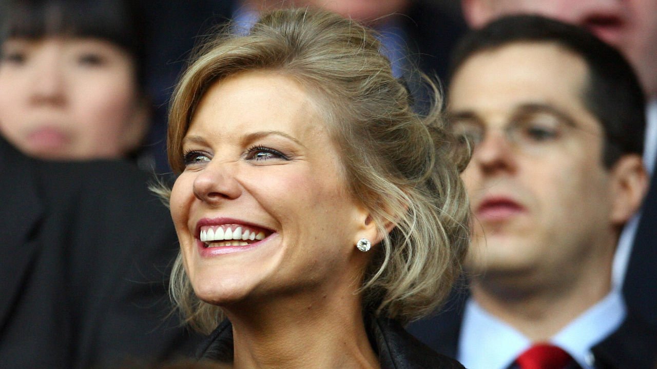 DIC negotiator Amanda Staveley takes her seat before Liverpool took on Chelsea in their UEFA Champions League semi-final football match against Liverpool at Anfield in Liverpool, north west England, April 22, 2008. The game finished 1-1. AFP PHOTO/PAUL ELLIS