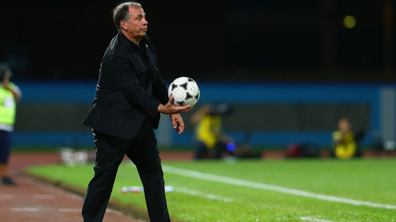 COUVA, TRINIDAD AND TOBAGO - OCTOBER 10: Head coach of the United States mens national team Bruce Arena during the FIFA World Cup Qualifier match between Trinidad and Tobago at the Ato Boldon Stadium on October 10, 2017 in Couva, Trinidad And Tobago.