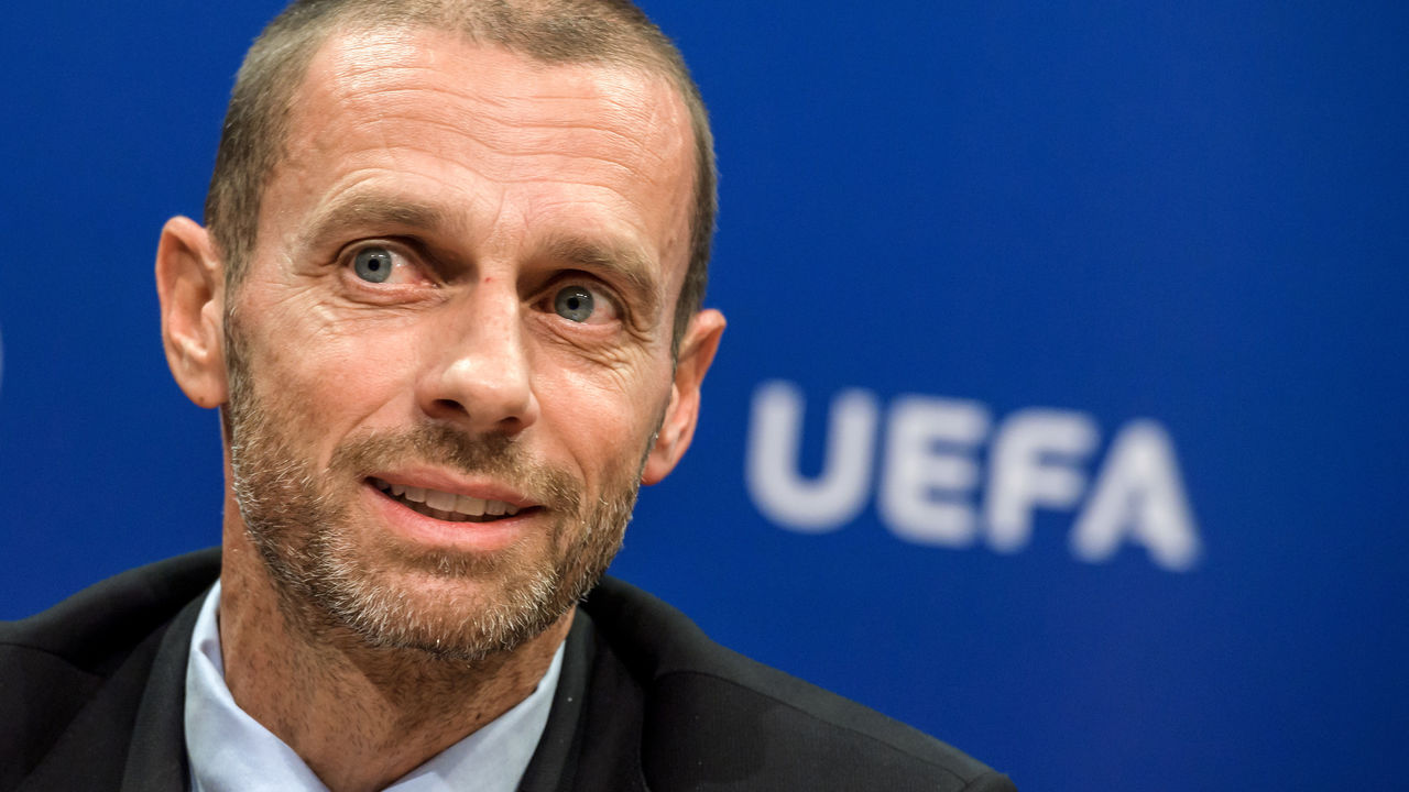 UEFA president Aleksander Ceferin attends a press conference on September 20, 2017 at the UEFA headqurters in Nyon. Ceferin has called for greater support from Europe's political leaders to help introduce measures to regulate the transfer market on the continent. / AFP PHOTO / Fabrice COFFRINI