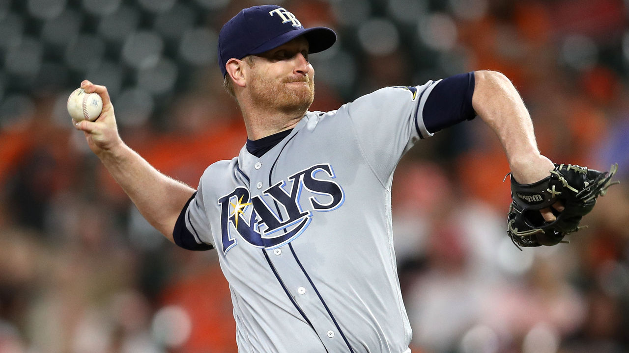 BALTIMORE, MD - SEPTEMBER 22: Starting pitcher Alex Cobb #53 of the Tampa Bay Rays works the first inning against the Baltimore Orioles at Oriole Park at Camden Yards on September 22, 2017 in Baltimore, Maryland.