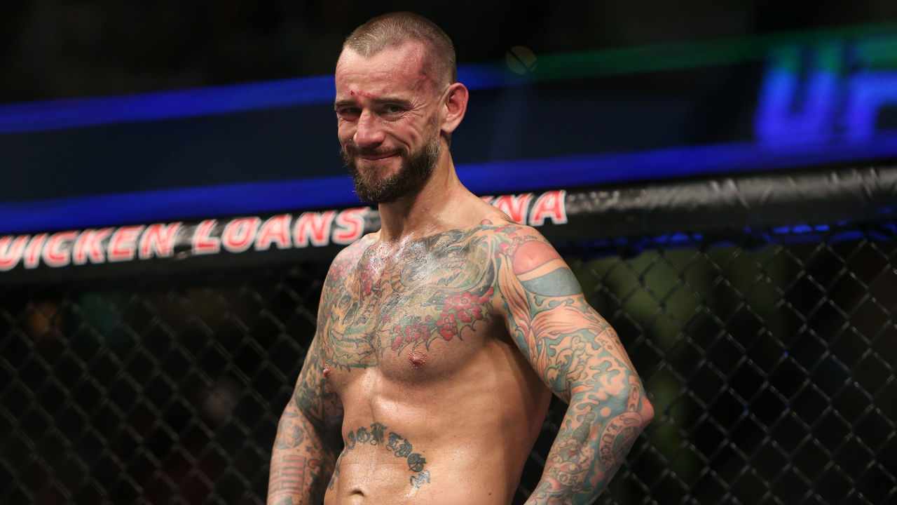 CLEVELAND, OH - SEPTEMBER 10: CM Punk reacts to his loss to Mickey Gall during the UFC 203 event at Quicken Loans Arena on September 10, 2016 in Cleveland, Ohio.