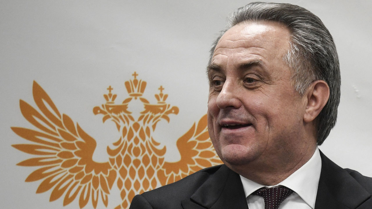 Russia's deputy prime minister and the Russian Football Union (RFU) president Vitaly Mutko meets with the media after a session of the RFU executive committee in Moscow on December 25, 2017. Russian Deputy Prime Minister Vitaly Mutko, who has been hit with a lifetime ban from the Olympic Games over doping, on December 25, 2017 said he is suspending his role as president of the Russian Football Union while he contests the ban in the Court of Arbitration for Sport. / AFP PHOTO / Alexander NEMENOV