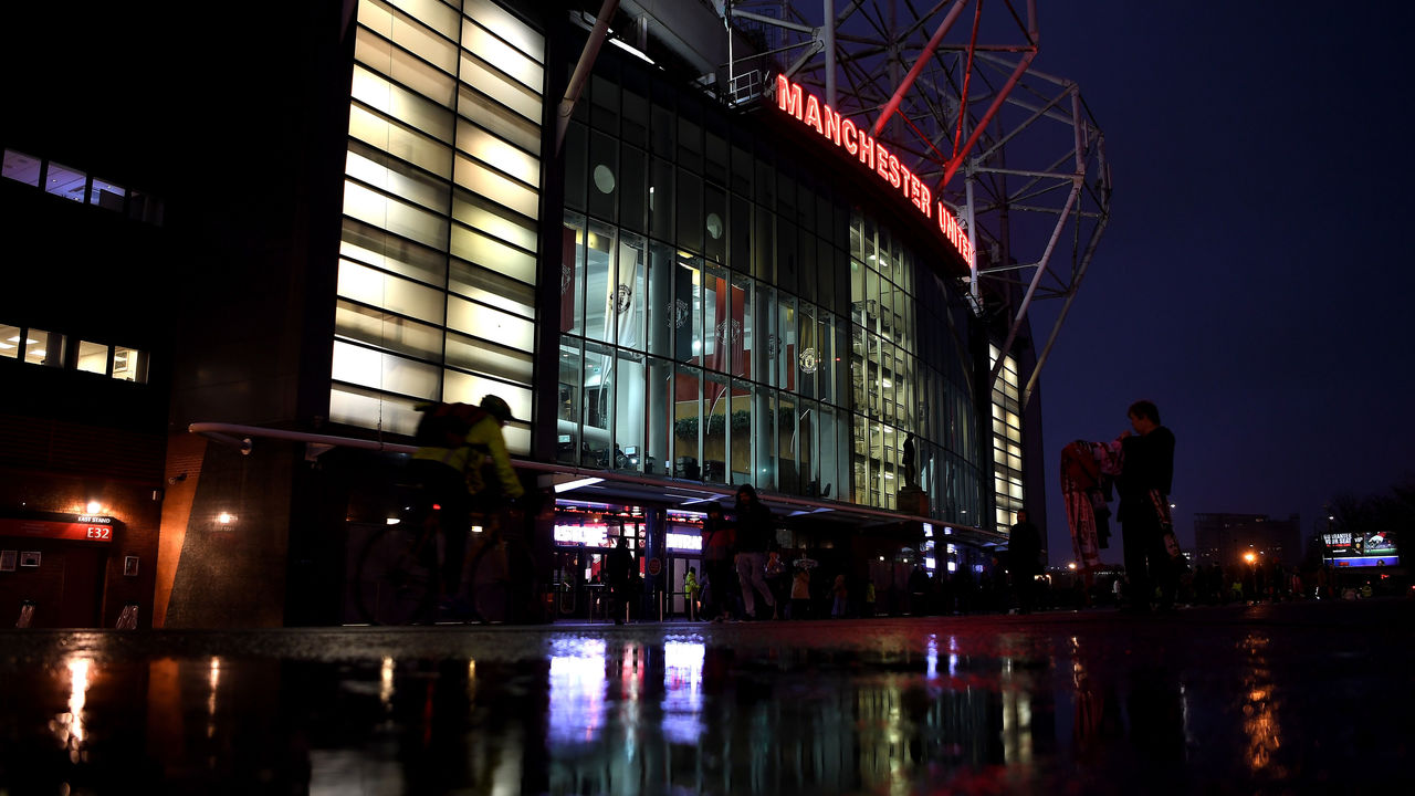 MANCHESTER, ENGLAND - JANUARY 15: A general view outside the stadium prior to the Premier League match between Manchester United and Stoke City at Old Trafford on January 15, 2018 in Manchester, England.
