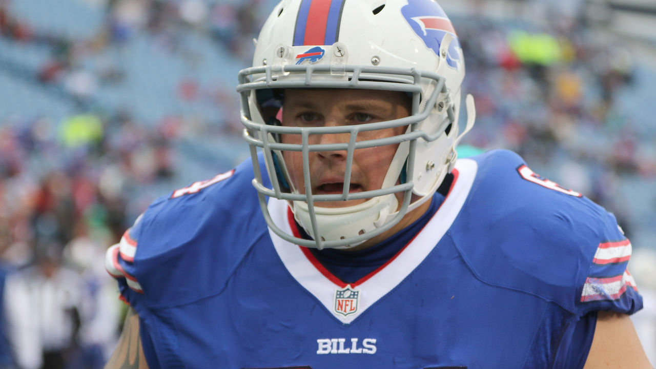 ORCHARD PARK, NY - DECEMBER 24: Richie Incognito #64 of the Buffalo Bills warms up before the game against the Miami Dolphins at New Era Stadium on December 24, 2016 in Orchard Park, New York.