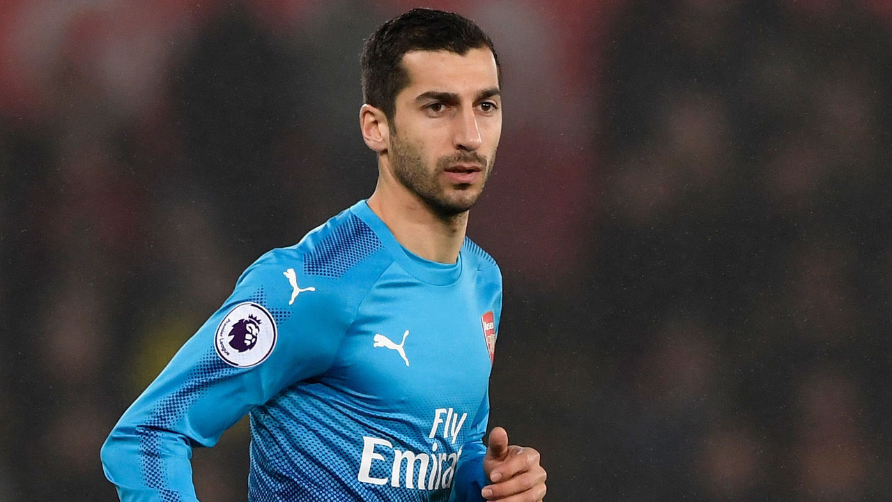 SWANSEA, WALES - JANUARY 30: Arsenal player Henrikh Mkhitaryan in action during the Premier League match between Swansea City and Arsenal at Liberty Stadium on January 30, 2018 in Swansea, Wales.