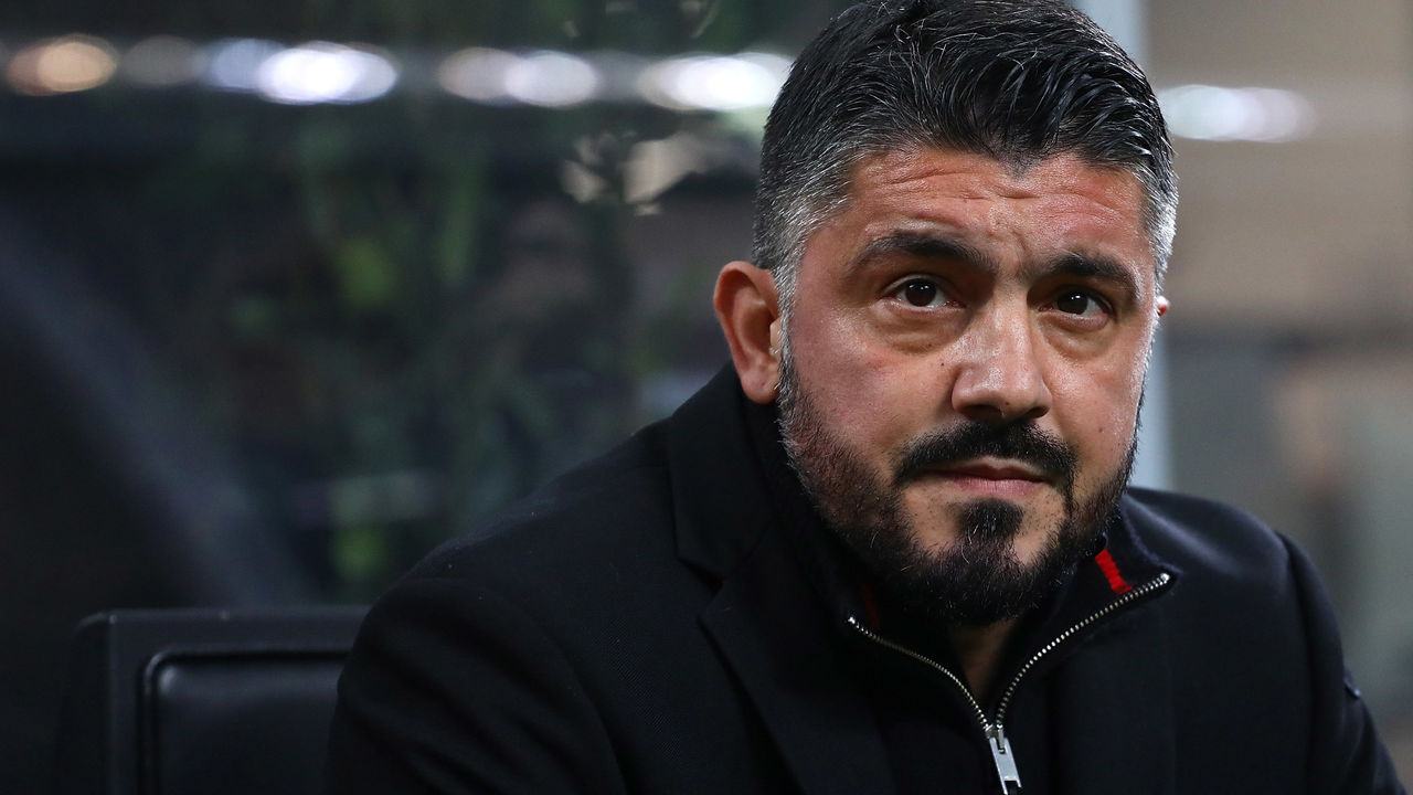 MILAN, ITALY - JANUARY 31: AC Milan coach Gennaro Gattuso looks on before the TIM Cup match between AC Milan and SS Lazio at Stadio Giuseppe Meazza on January 31, 2018 in Milan, Italy.