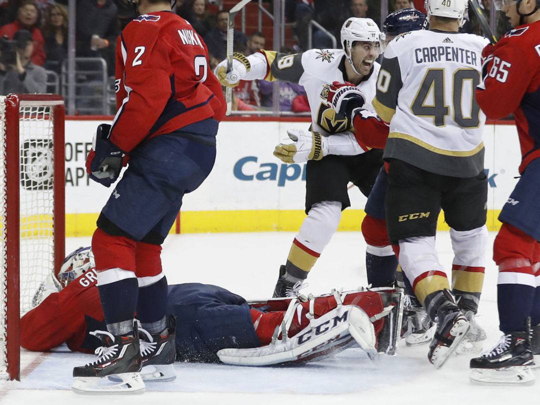 Golden Knights cap comeback with upheld own goal, awkward celebration