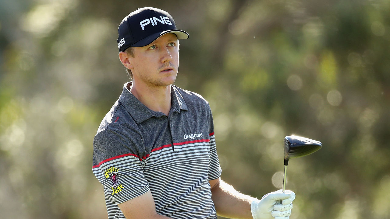 HONOLULU, HI - JANUARY 12: Mac Hughes of Canada plays his shot from the first tee during round two of the Sony Open In Hawaii at Waialae Country Club on January 12, 2018 in Honolulu, Hawaii.