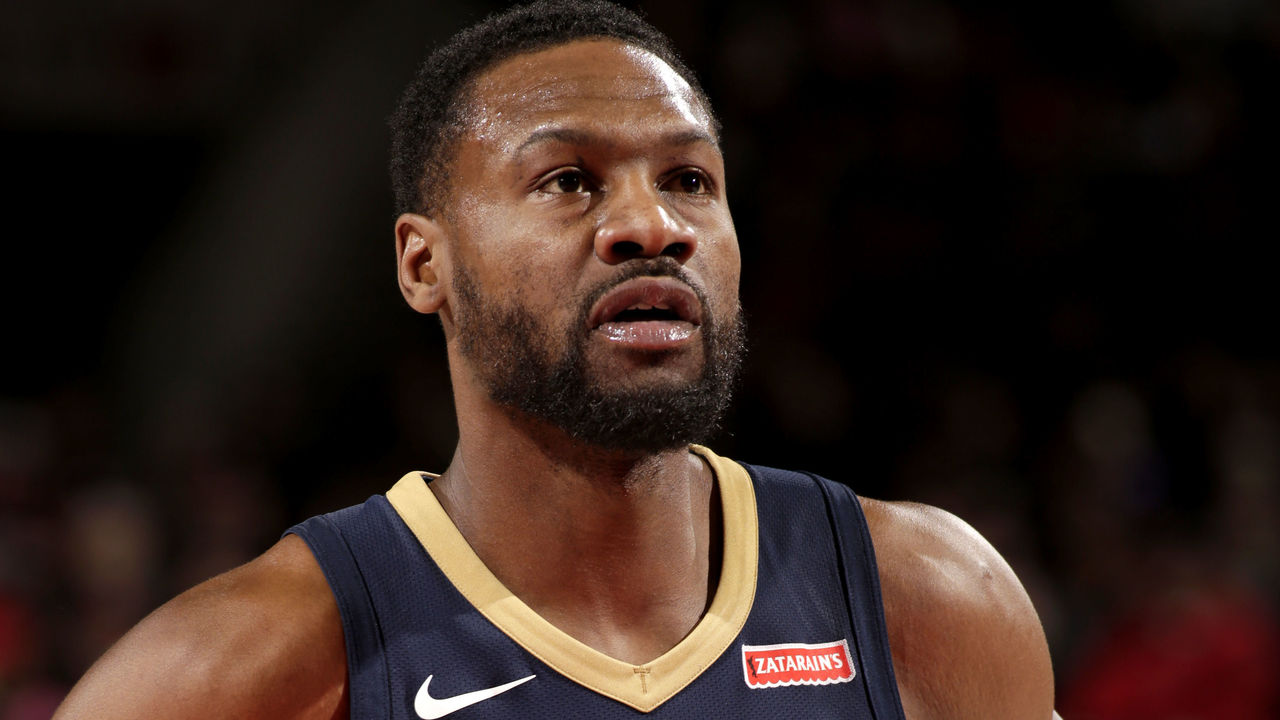PORTLAND, OR - DECEMBER 2: Tony Allen #24 of the New Orleans Pelicans looks on during the game against the Portland Trail Blazers on December 2, 2017 at the Moda Center in Portland, Oregon. Mandatory Copyright Notice: Copyright 2017 NBAE
