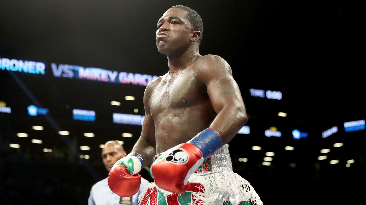 BROOKLYN, NY - JULY 29: Adrien Broner walks back to his corner after the third round against Mikey Garcia during their Junior Welterwight bout on July 29, 2017 at the Barclays Center in the Brooklyn borough of New York City.