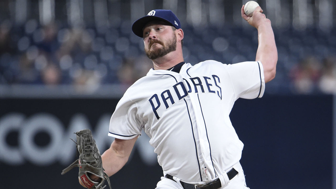 SAN DIEGO, CA - SEPTEMBER 5: Travis Wood #37 of the San Diego Padres pitches during the first inning of a baseball game against the St. Louis Cardinals at PETCO Park on September 5, 2017 in San Diego, California.