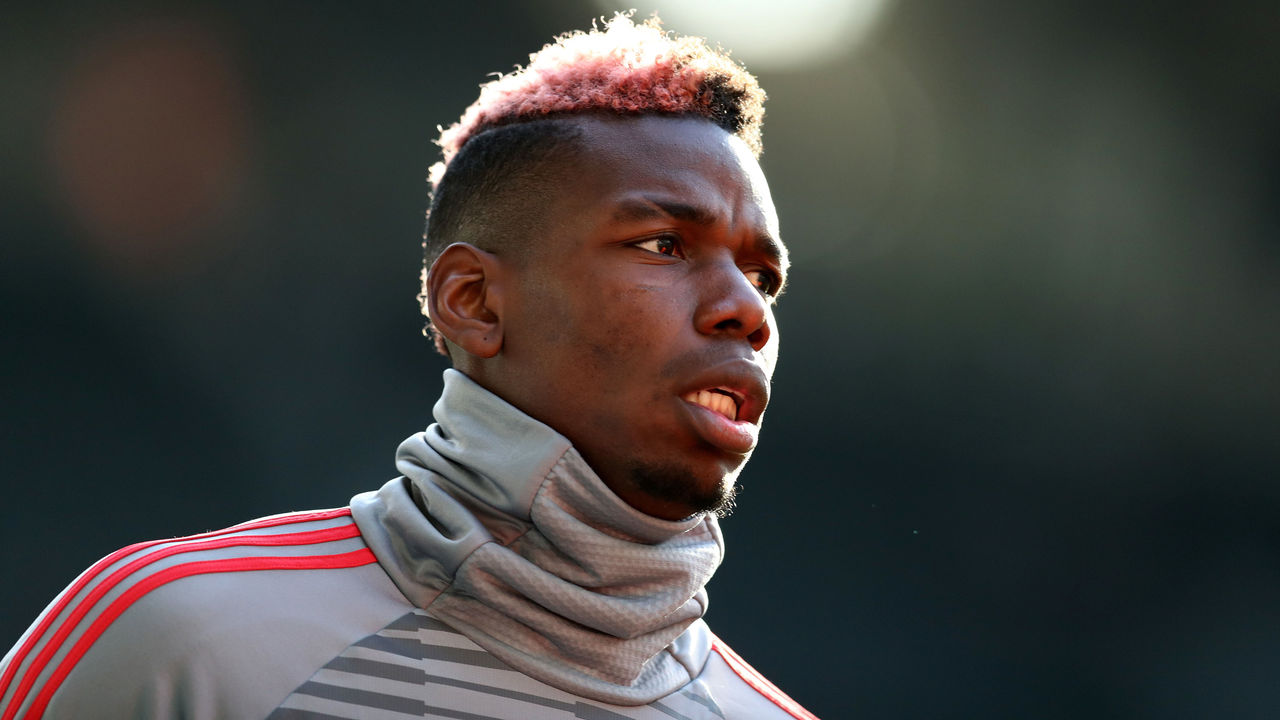 NEWCASTLE UPON TYNE, ENGLAND - FEBRUARY 11: Paul Pogba of Manchester United during the Premier League match between Newcastle United and Manchester United at St. James Park on February 11, 2018 in Newcastle upon Tyne, England.
