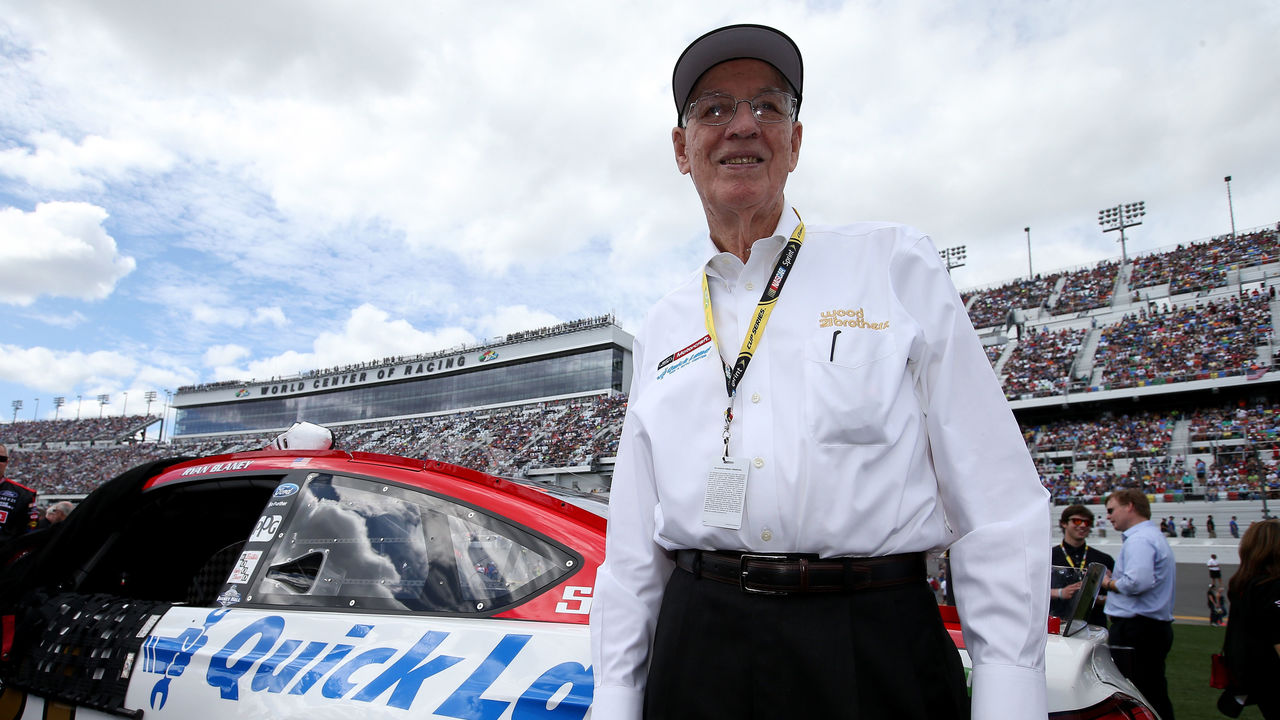 DAYTONA BEACH, FL - FEBRUARY 21: Team owner Glen Wood stands on the grid prior to the NASCAR Sprint Cup Series DAYTONA 500 at Daytona International Speedway on February 21, 2016 in Daytona Beach, Florida.