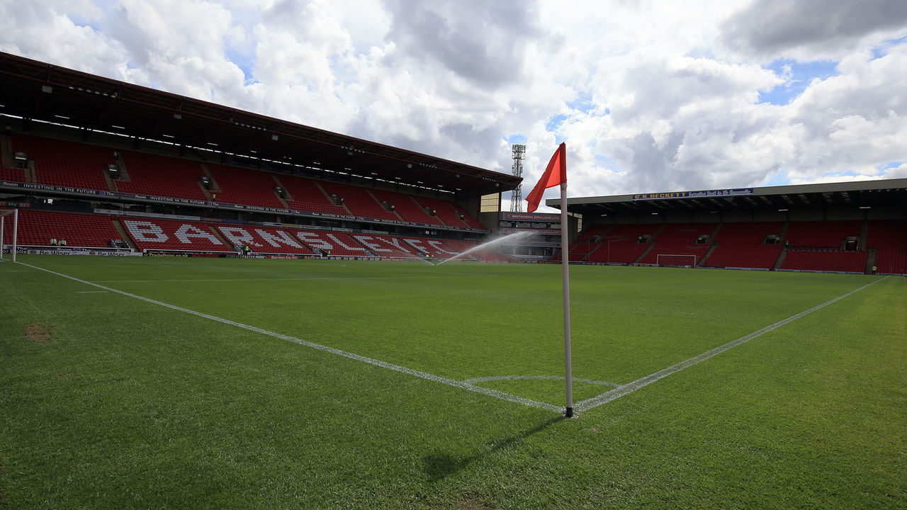 BARNSLEY, ENGLAND - JULY 22: A general view of Oakwell stadium during the pre season friendly at Oakwell Stadium between Barnsley and Huddersfield Town on July 22, 2017 in Barnsley, England.