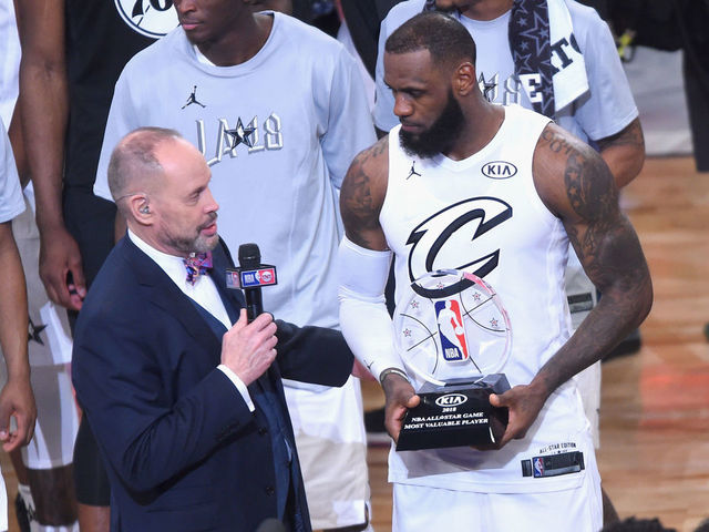 best service d6381 7c403 LeBron named 2018 All-Star Game MVP | theScore.com