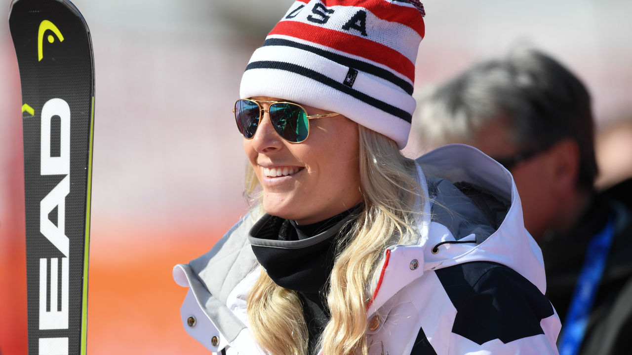 USA's Lindsey Vonn leaves after the 3rd training of the Alpine Skiing Women's Downhill at the Jeongseon Alpine Center during the Pyeongchang 2018 Winter Olympic Games in Pyeongchang on February 20, 2018. / AFP PHOTO / Martin BERNETTI
