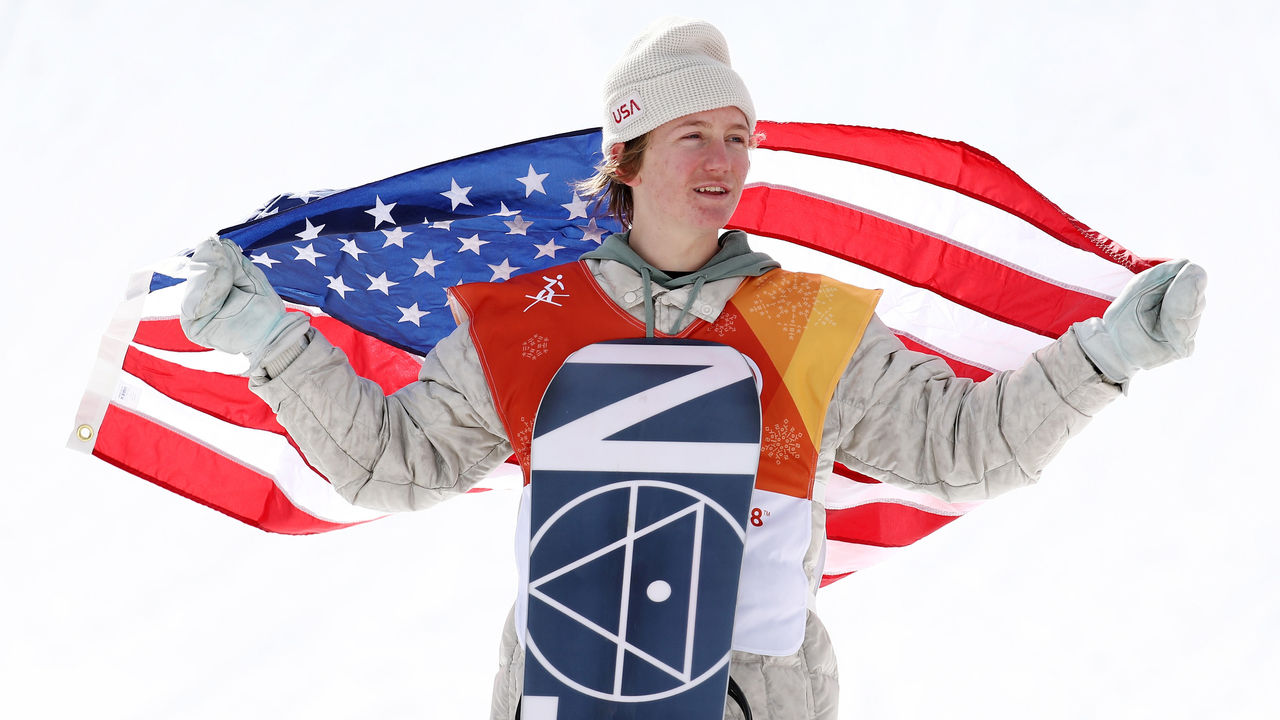PYEONGCHANG-GUN, SOUTH KOREA - FEBRUARY 11: Gold medalist Redmond Gerard of the United States poses during the victory ceremony for the Snowboard Men's Slopestyle Final on day two of the PyeongChang 2018 Winter Olympic Games at Phoenix Snow Park on February 11, 2018 in Pyeongchang-gun, South Korea.