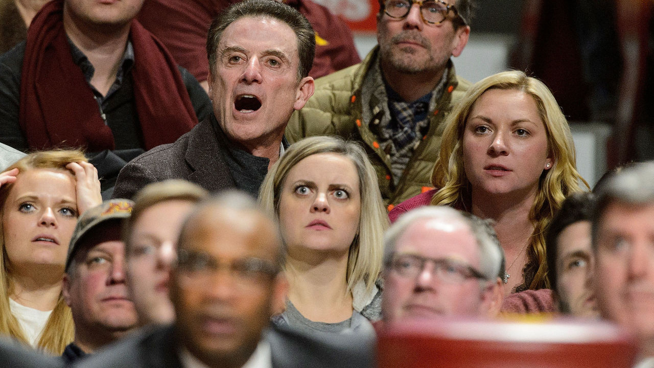 MINNEAPOLIS, MN - JANUARY 3: Rick Pitino, father of head coach Richard Pitino of the Minnesota Golden Gophers, watches from the crowd during the second half of the game against the Illinois Fighting Illini on January 3, 2018 at Williams Arena in Minneapolis, Minnesota.