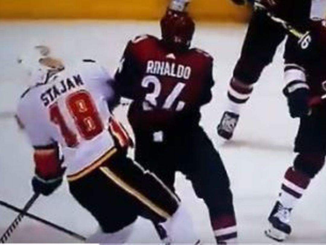 Rinaldo catches Stajan with high hit