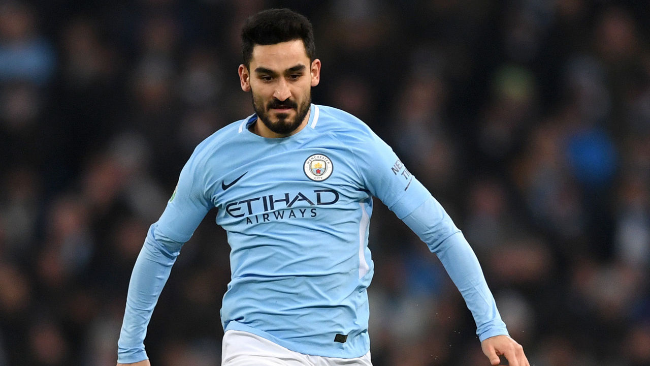 Ilkay Gundogan of Manchester City during the Carabao Cup Semi-Final First Leg match between Manchester City and Bristol City at Etihad Stadium on January 9, 2018 in Manchester, England.