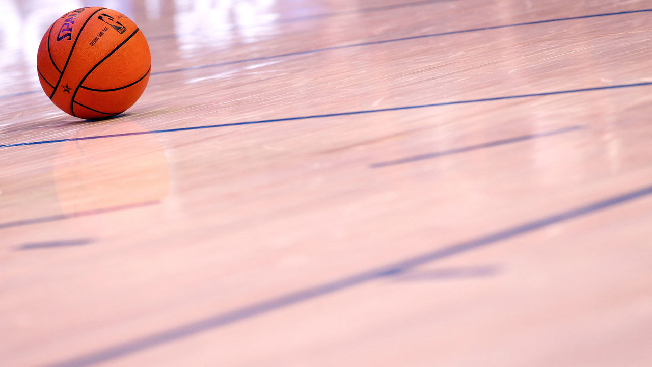 ORLANDO, FL - FEBRUARY 26: A detail of an offical NBA Spalding basketball during the 2012 NBA All-Star Game at the Amway Center on February 26, 2012 in Orlando, Florida.