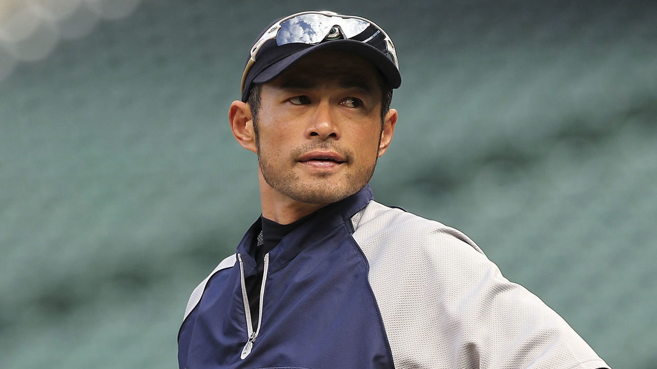 SEATTLE, WA - APRIL 18: Ichiro Suzuki #51 of the Seattle Mariners looks on during batting practice prior to the game against the Cleveland Indians at Safeco Field on April 18, 2012 in Seattle, Washington.