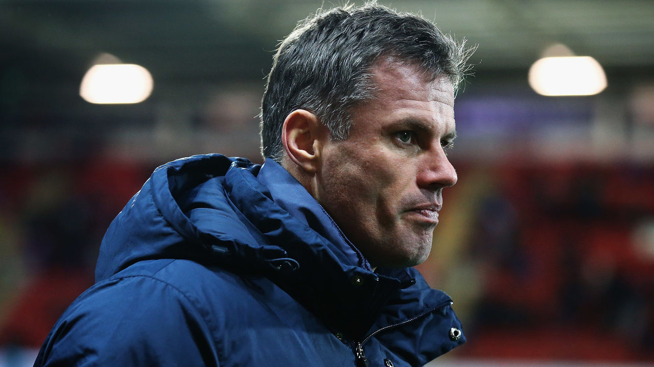 ROTHERHAM, ENGLAND - NOVEMBER 20: Jamie Carragher of England looks on during the International U17 Friendly match between England U17 and Germany U17 at the New York Stadium on November 20, 2015 in Rotherham, England.