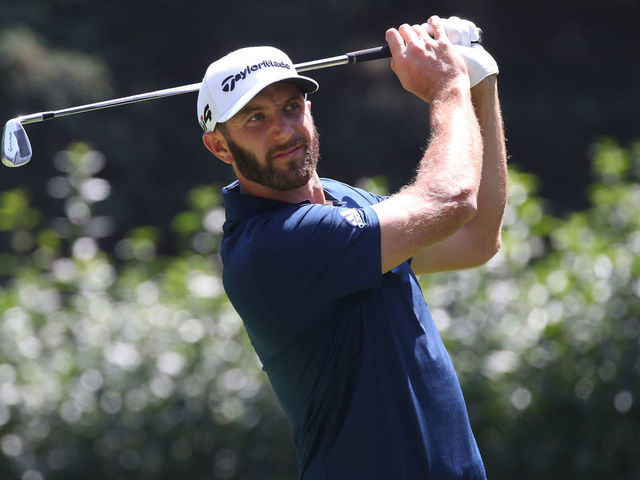 MEXICO CITY, MEXICO - MARCH 03: Dustin Johnson plays his shot from the third tee during the third round of World Golf Championships-Mexico Championship at Club de Golf Chapultepec on March 3, 2018 in Mexico City, Mexico.