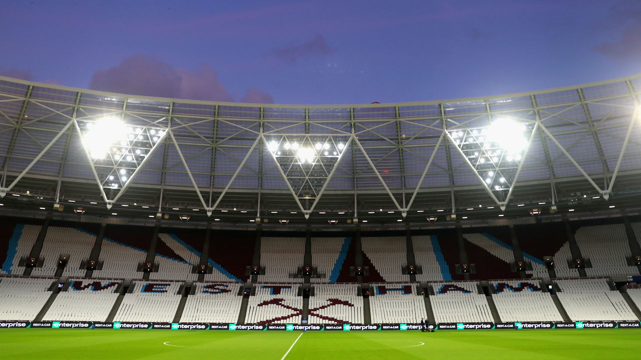 LONDON, ENGLAND - JANUARY 30: A view inside the stadium prior to the Premier League match between West Ham United and Crystal Palace at London Stadium on January 30, 2018 in London, England.