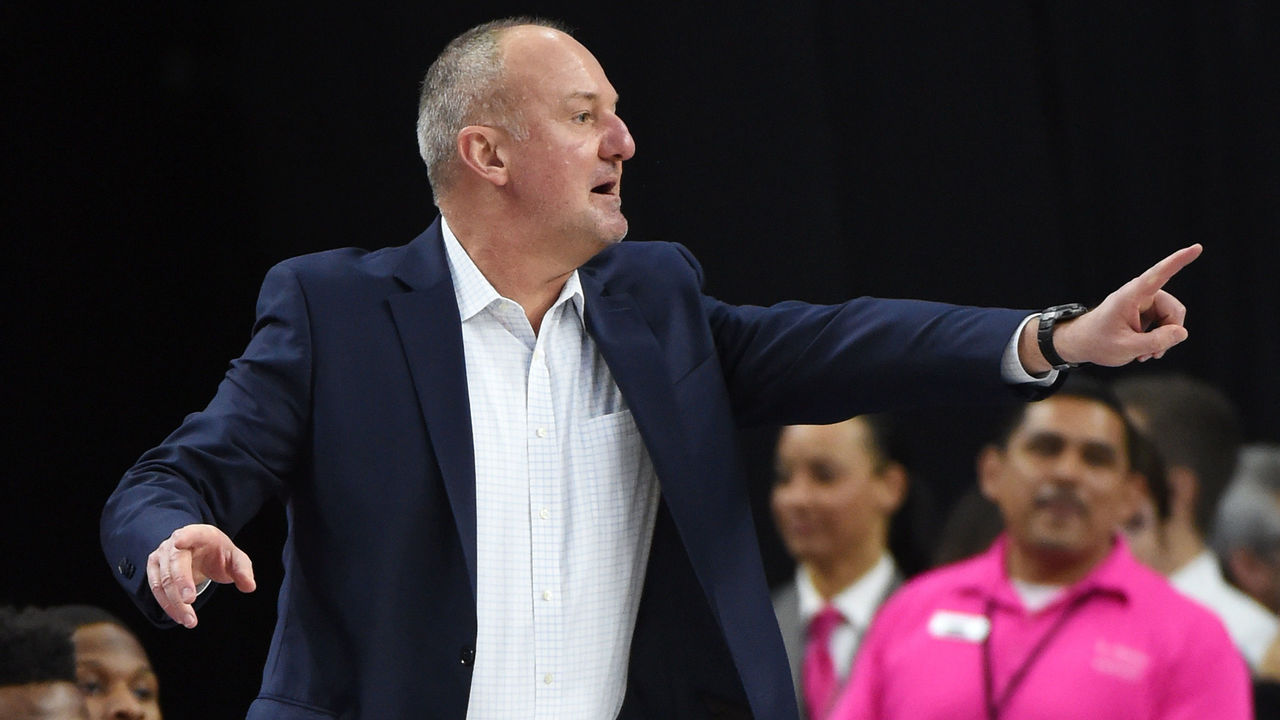 LAS VEGAS, NV - DECEMBER 17: Head coach Thad Matta of the Ohio State Buckeyes reacts as his team takes on the UCLA Bruins during the CBS Sports Classic at T-Mobile Arena on December 17, 2016 in Las Vegas, Nevada. UCLA won 86-73.