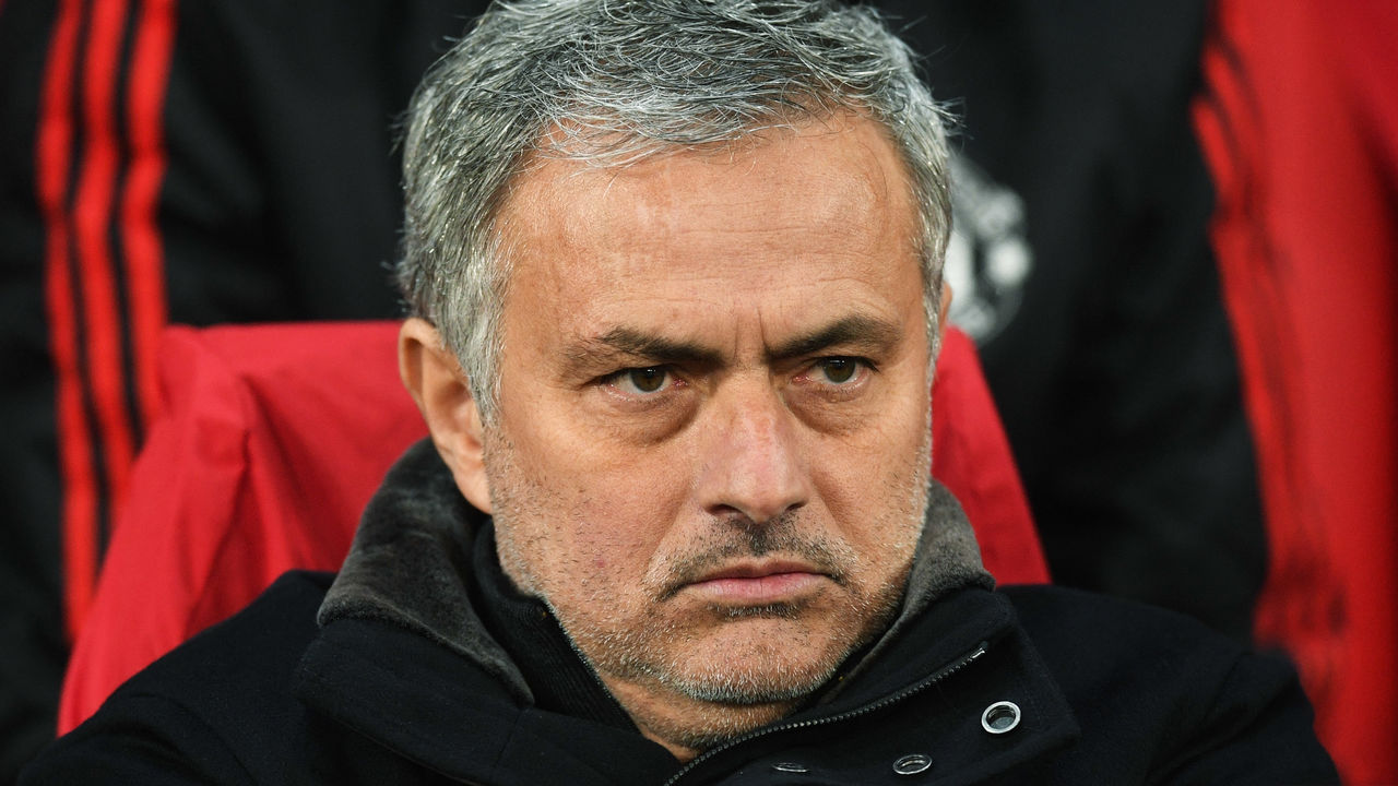 MANCHESTER, ENGLAND - MARCH 13: Jose Mourinho, Manager of Manchester United looks on prior to the UEFA Champions League Round of 16 Second Leg match between Manchester United and Sevilla FC at Old Trafford on March 13, 2018 in Manchester, United Kingdom.