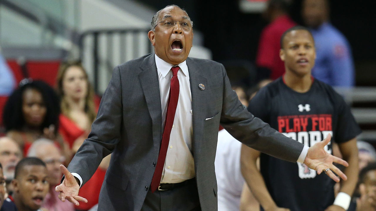 RALEIGH, NORTH CAROLINA - MARCH 17: Head coach Tubby Smith of the Texas Tech Red Raiders reacts in the second half while taking on the Butler Bulldogs in the first round of the 2016 NCAA Men's Basketball Tournament at PNC Arena on March 17, 2016 in Raleigh, North Carolina.