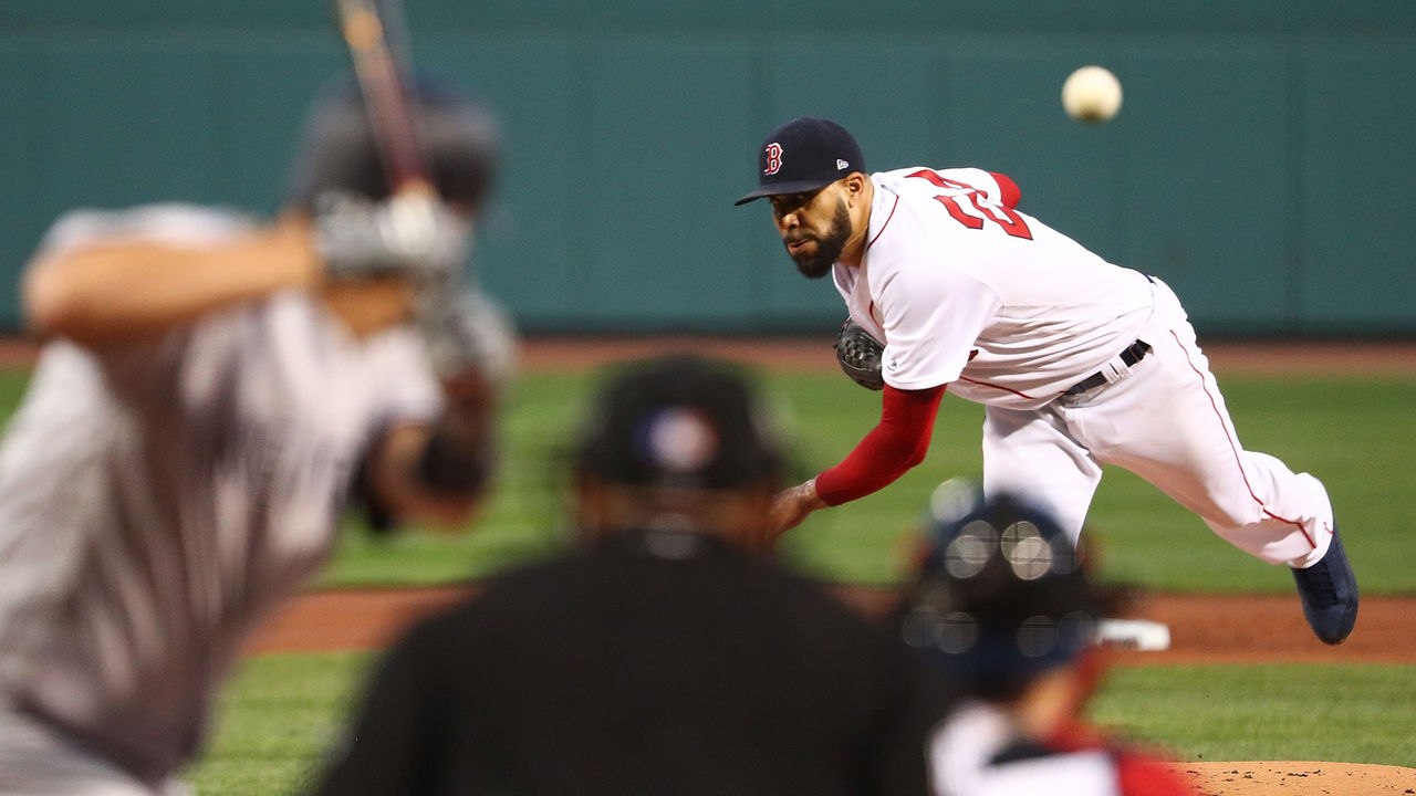 BOSTON, MA - JULY 16: David Price #24 of the Boston Red Sox delivers in the first inning of game two of a doubleheader against the New York Yankees at Fenway Park on July