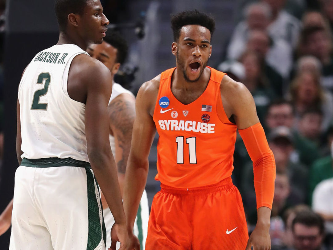No. 11 Syracuse upsets No. 3 Michigan State in ugly round of 32 affair