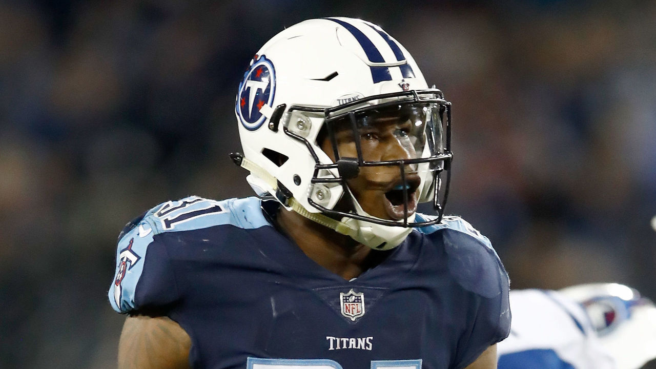NASHVILLE, TN - OCTOBER 16: Kevin Byard #31 of the Tennessee Titans celebrates after a funble recovering during the game against the Indianapolis Colts at Nissan Stadium on October 16, 2017 in Nashville, Tennessee.