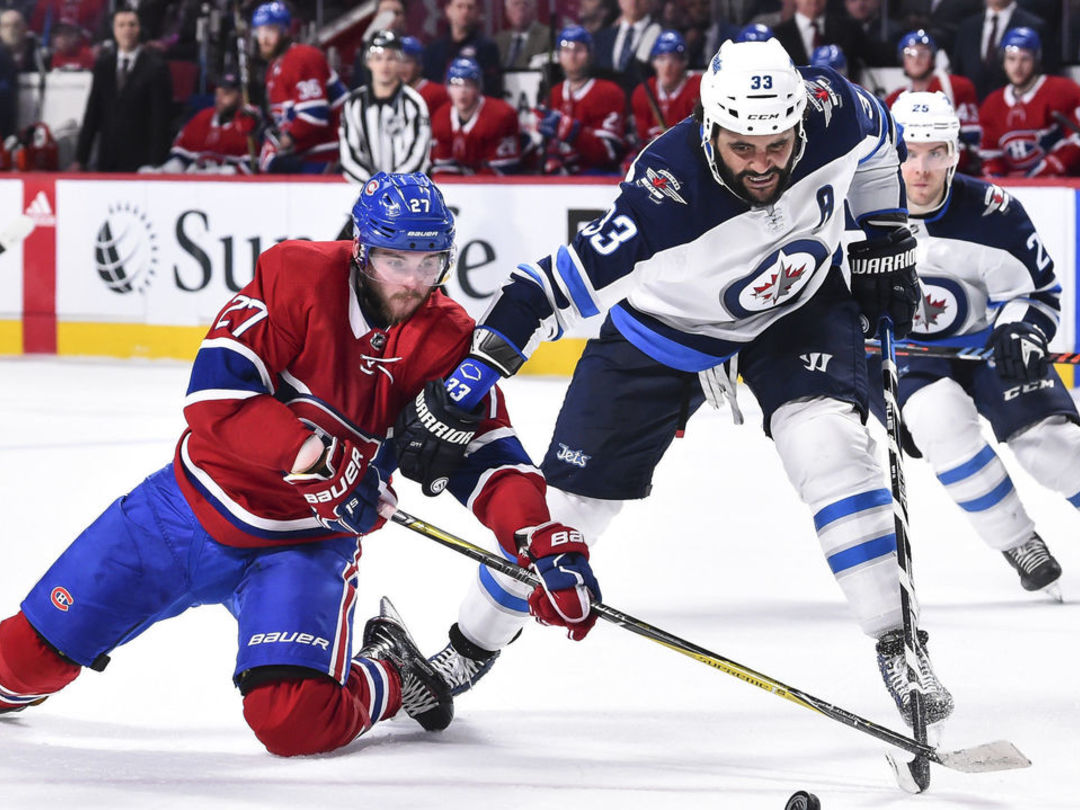 Byfuglien gets 10-minute misconduct for bumping into referee