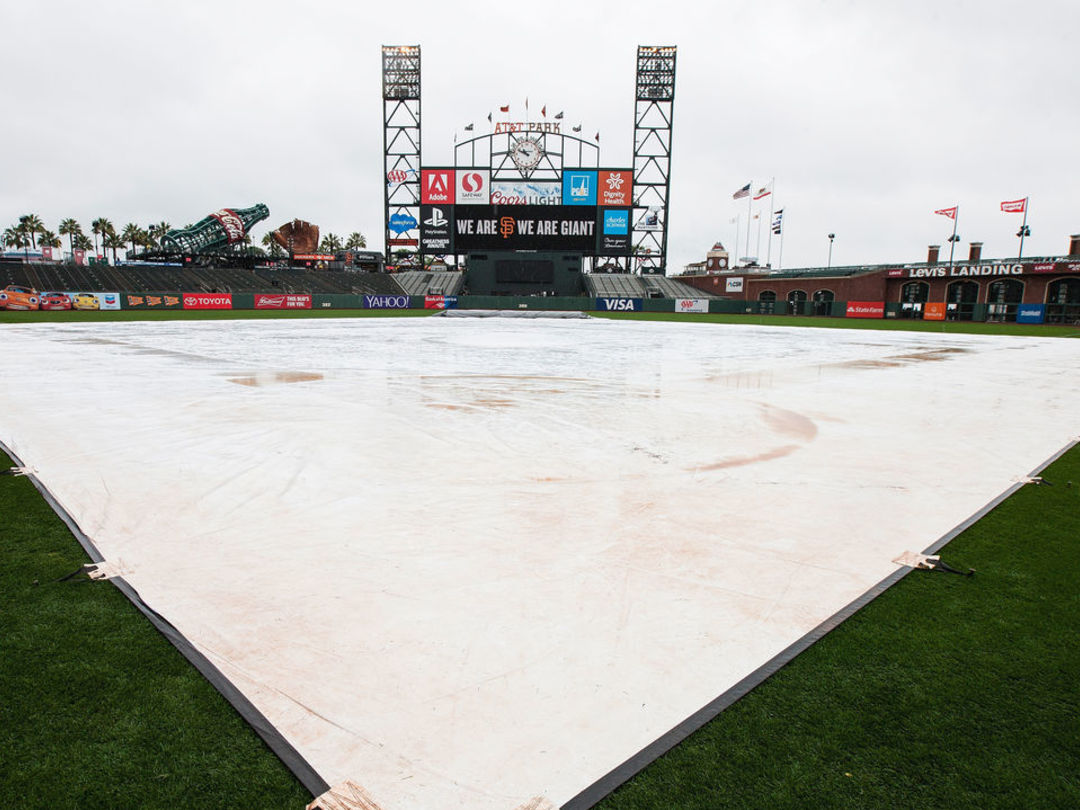 Giants-Dodgers postponed due to rain; only 6th rainout in AT&T Park history