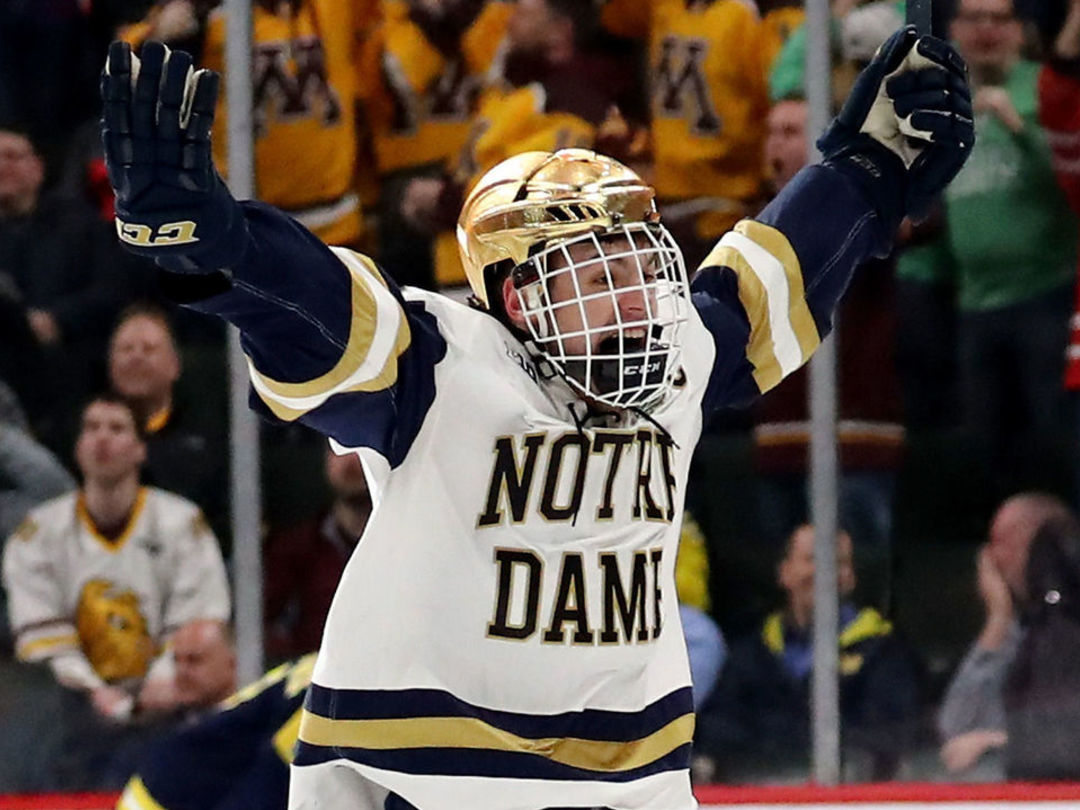 Canadiens sign Notre Dame captain Evans