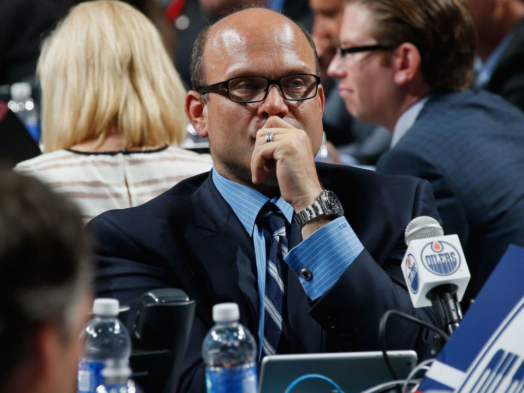 Chiarelli expects Oilers to make playoffs next year, won't rule out trading 1st-rounder