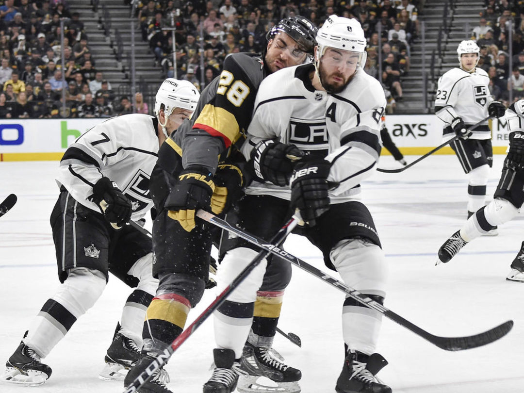 Doughty suspended 1 game for hit to head of Golden Knights' Carrier