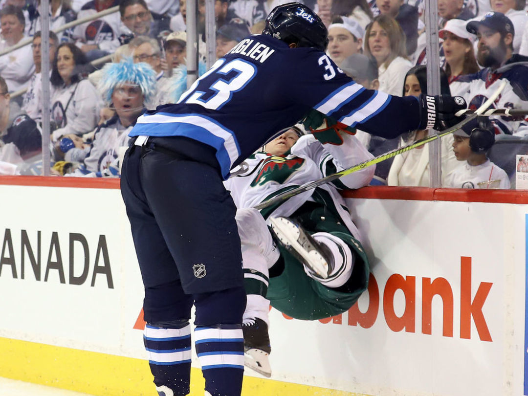 Watch: Byfuglien absolutely destroys Koivu with massive hit