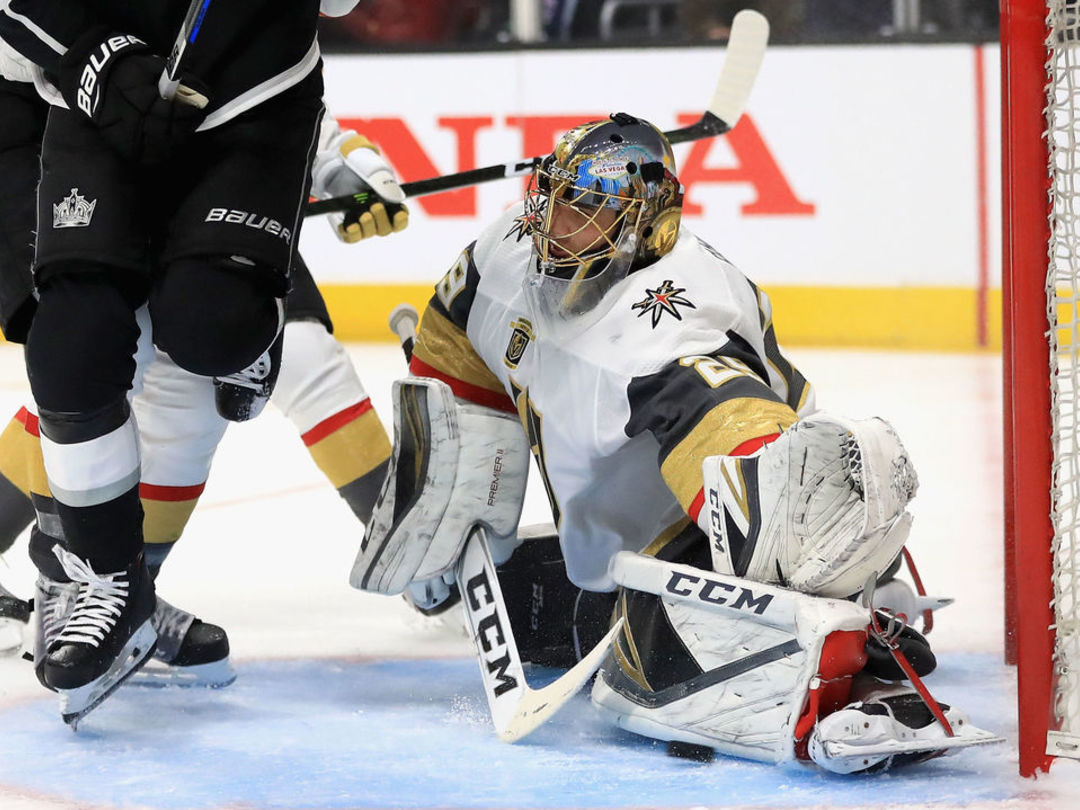 Fleury posts shutout as Golden Knights sweep Kings