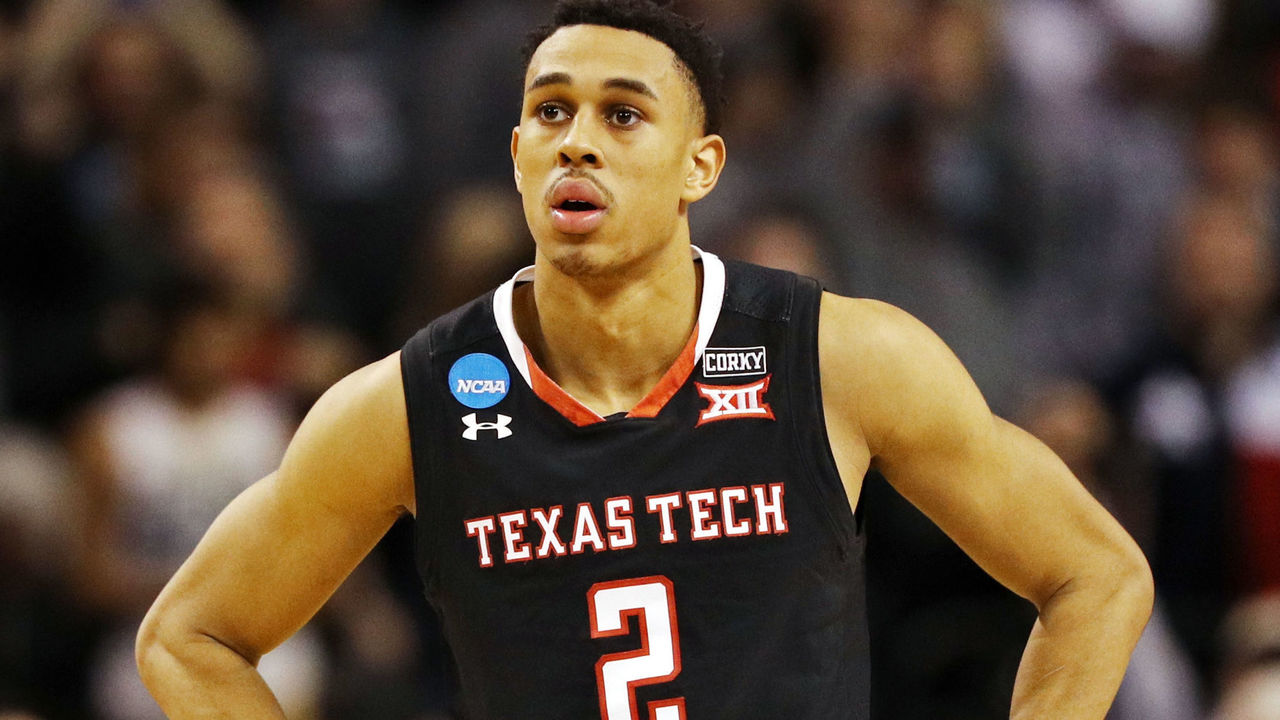 BOSTON, MA - MARCH 25: Zhaire Smith #2 of the Texas Tech Red Raiders reacts late in the game in his teams 71-59 loss to the Villanova Wildcats in the 2018 NCAA Men's Basketball Tournament East Regional at TD Garden on March 25, 2018 in Boston, Massachusetts.