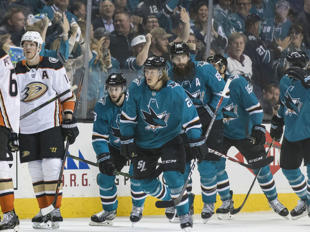 Sharks complete sweep of Ducks, will meet Golden Knights in Round 2